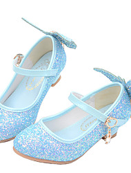 cheap -Girls' Heels Princess Shoes PU Little Kids(4-7ys) Big Kids(7years +) Party & Evening Walking Shoes White Blue Pink Spring Summer
