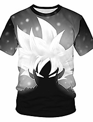 cheap -mens 3d dragon ball goku printed short sleeve t-shirts casual anime cosplay tee tops s-3xl