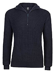 cheap -men's marine pullover troyer sweater, navy, xxx-large