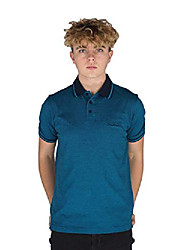 cheap -mens engineered thin stripe polo with signature embroidery (xl, grey marl)