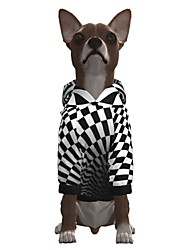 cheap -Dog Hoodie Graphic Optical Illusion 3D Print Ordinary Fashion Casual / Daily Dog Clothes Puppy Clothes Dog Outfits Breathable Black / White Costume for Girl and Boy Dog Polyster S M L XL