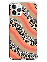 cheap -Leopard Print Case For Apple iPhone 12 iPhone 11 iPhone 12 Pro Max Unique Design Protective Case and Screen Protector Shockproof Back Cover TPU