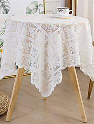 cheap -90*90cm Bright Silk Lace Tablecloth Decorative Fabric Table Cover for Outdoor and Indoor Use