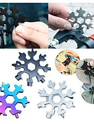 cheap -19 in1 Multifunction Tool Stainless Steel Snowflake Shape Flat Phillips Screwdriver