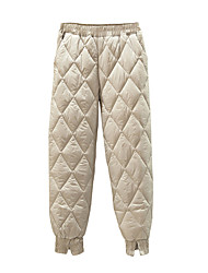 cheap -women's winter insulated packable diamond down quilted ski snow pants