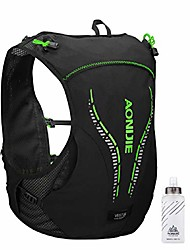 cheap -5l hydration pack backpack with soft flasks, hydration vest ultra running vest marathon water backpack for outdoor running cycling (green & black - with 2 water bottles, l/xl - 92-108cm)