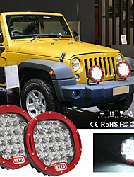 cheap -1Pcs 105W7Inch LED Round Work Spot Spotlights IP68 Waterproof 6000K Super Bright Fog Lights For Off-Road Driving Lights Red