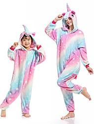 cheap -women's sleepwear kids unicorn onesie animal one-piecepajamas halloween cosplay costume sleepwear (3t,a(star-1))