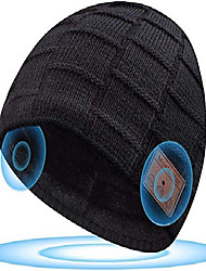 cheap -stocking fillers for men bluetooth beanie hat - secret santa gifts for men upgraded v5.0 bluetooth hat built-in stereo speakers&microphone, runners gifts for men who have everything. presents for