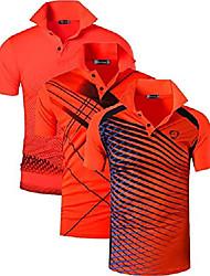cheap -men's 3 packs quick dry sport polo t-shirt lsl195 mixpackb l