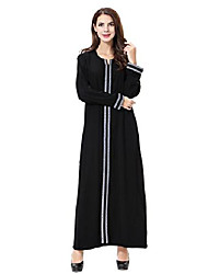 cheap -ladies women muslim abaya dubai muslim dress clothing winter dresses arab arabic india turkish casual evening dress wedding caftan robe maxi dress s-3xl (gray, l)
