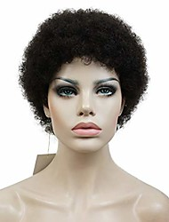 cheap -wigs for women men african american kinky curly black short wig dark brown