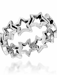 cheap -amazing cut-out stars link .925 sterling silver ring (6)