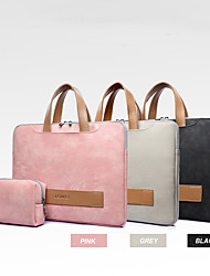 cheap -13.3 14 15.6 Pu Leather Waterproof Laptop Sleeve For Women Notebook Bag Soft Shockproof Handbag Include Power Bag