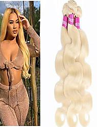 cheap -613 blonde hair bundles 300g brazilian body wave bundles 613 blonde remy hair weaving platinum blonde virgin human hair 3 bundles 16 18 20 inch