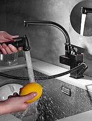 cheap -Kitchen faucet - Single Handle Two Holes Electroplated Standard Spout Centerset Contemporary Kitchen Taps
