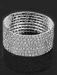 cheap -Women's Bracelet Classic Lucky Stylish Rhinestone Bracelet Jewelry Silver For Wedding Daily