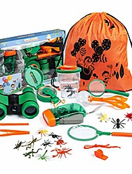 cheap -nyoku explorer kit toys for kids ages 3-12 year old, outdoor exploration toy set kids binoculars set children educational adventure kit for 5-8 boys and girls best birthday xmas gifts for kids (26pcs)
