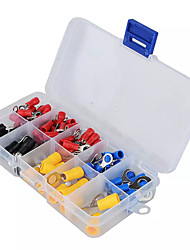 cheap -(102pcs 10kinds Rv) Ring Terminal Electrical Crimp Connector Kit Set With Boxcopper Wire Insulated Cord Pin End Butt