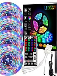 cheap -4*5m led strip lights waterproof rgb led light 1080 leds 2835 smd color changing led strip light and 44 keys ir controller 12v adapter led lights kit  for bedroom home