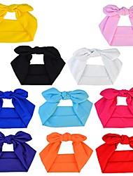 cheap -women headbands headwraps hair bands bows accessories turban head wraps cotton 1pc solid color fashion sport
