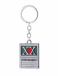 cheap -anime hunter x hunter metal charm key chain keyring toy accessory(green)