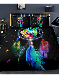 cheap -Colorful Dreamcatcher 3-Piece Duvet Cover Set Hotel Bedding Sets Comforter Cover with Soft Lightweight Microfiber For Room Decoration(Include 1 Duvet Cover and 1or 2 Pillowcases)