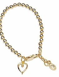 cheap -children's 14k gold-plated bracelet with open heart charm for girls (sm)