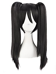 "cheap -20""/50cm double tail straight hair cosplay wigs(black)"
