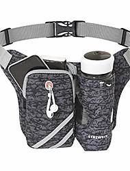 cheap -lightweight running waist packs hydration belt with bottle holder, no bounce running fanny pack, running belt adjustable size suitable for jogging, cycling, rraveling, fitness, hiking