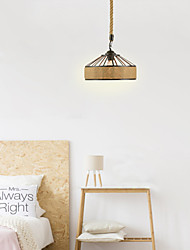 cheap -1-Light 30 cm Mini Style Pendant Light Hemp Rope Painted Finishes Traditional / Classic / Nordic Style 220-240V