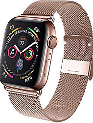 cheap -Compatible apple watch band, milanese loop stainless steel adjustable replacement iwatch band  series6/se/5/4/3/2/1 42mm 44mm 38mm 40mm(pink gold)