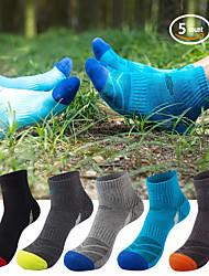 cheap -5 Pack Hiking Socks Cushioned Walking Running Socks Moisture Wicking Blister Resist Multi Performance Padded Quarter Crew Ankle Athletic Socks Men's Women's Outdoor Trekking