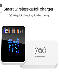 cheap -WINHOW QI Wireless Charger Quick Charge Type-C 3.0 Smart USB Charging Station Hub Fast Charger Adapter For iPhone Samsung Xiaomi Huawei