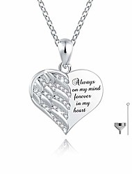 cheap -urn necklace for ashes - 925 sterling silver angel wing heart cremation memorial keepsake pendant necklaces jewelry for human pets ashes (18)