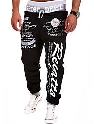 cheap -mens Joggers pants Streetwear Sweatpants letter printed Trousers hip hop black 1 large