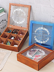 cheap -Retro Box Headband Jewelry Card Box Wooden Box Storage Box Large Capacity Pack Box Mask Box Small Box.