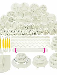 cheap -68pcs Fondant Cake Mold Set Plastic Biscuit Cutting Mold Spring Printing Mold DIY Baking Tool