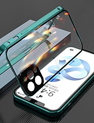 cheap -Magnetic Case For Apple iPhone 12/iPhone 11/iPhone 12 Pro Max Clear Full Body Protection Metal Adsorption Double Sided Tempered Glass Case with Camera Protection Lens For iPhone XS Max XR X SE 2020