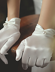 cheap -Satin Suit Length Glove Elegant / Simple Style With Faux Pearl