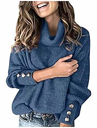 cheap -pullover sweaters for women women cowl neck pullover sweater oversized cable knit balloon sleeve batwing slouchy baggy chunky loose jumper blue