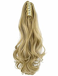 """cheap -heat resistant synthetic wavy 18""""45cm 140gr claw ponytail hair extensions #613a/85"""