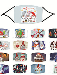 cheap -2 pcs Christmas Mask For Adults And Children Christmas Pattern Mask Digital Printing Pm2.5 Filter Adjustable