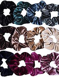 cheap -1 Pc Hair Scrunchies Velvet Elastic Hair Bands Scrunchy Hair Ties Ropes Scrunchie for Women or Girls Hair Accessories 1 Piece Assorted Colors Scrunchies