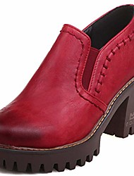 cheap -women's classic platform chunky block high heels oxfords slip on ankle booties dress pump shoes