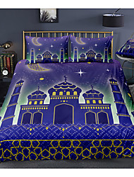 cheap -Muslim Palace 3-Piece Duvet Cover Set Hotel Bedding Sets Comforter Cover with Soft Lightweight Microfiber, Include 1 Duvet Cover, 2 Pillowcases for Double/Queen/King(1 Pillowcase for Twin/Single)