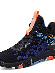cheap -Men's Trainers Athletic Shoes Sporty Outdoor Basketball Shoes Mesh Non-slipping Black / Red Yellow Blue Fall Spring