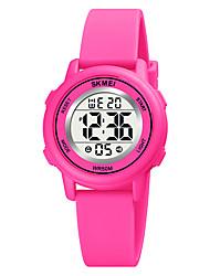 cheap -SKMEI Kids Digital Watch Digital Digital Stylish Fashion Water Resistant / Waterproof Calendar / date / day LED Light / One Year / Silicone