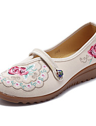 cheap -flower embroidery comfortable soft flats