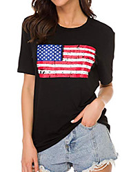 cheap -Women's Ugly Christmas/ST. Patrick's Day/Halloween/American Flag/Long Sleeve T Shirt Casual Holiday Party Blouse Tops (Small, Type8)
